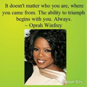 Oprah Winfrey quote art