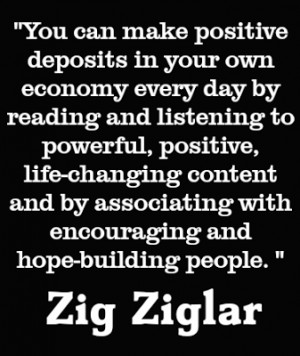 You can make positive deposits in your own economy.