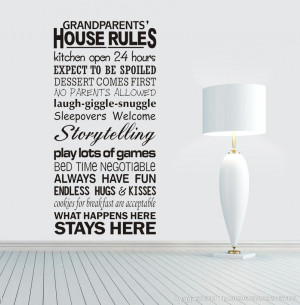 2015-New-Grandparents-House-Rules-Modren-Romantic-Word-Quote-Wall ...