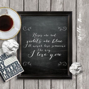 Love quote print printable love quote wall decor framed by HelloAm, $5 ...