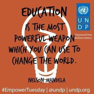 Education Quote By Nelson Mandela
