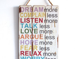 etc... Inspirational Sayings, Wooden Sign with Quote, Family Values ...