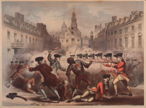 William L. Champney. (fl. 1850-1857). Boston Massacre, March 5th, 1770 ...