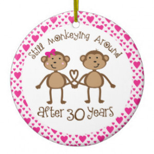 30th Anniversary Gift Ornament