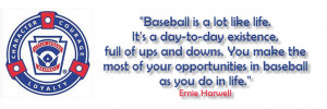 Baseball quote Erb and Young Insurance Sponsors Little League Baseball ...