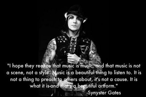 ... Quotes, Synyster Gates3, Music 3, Synyster Gates Quotes, Quotes Lyr