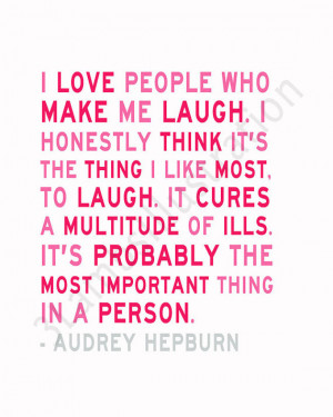 New Audrey Hepburn Quote Print in the Shop