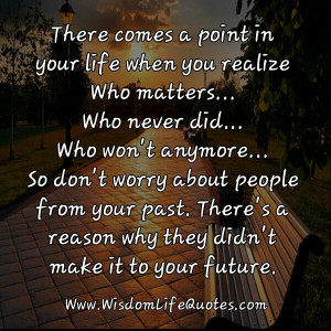 Don't worry about people from your past