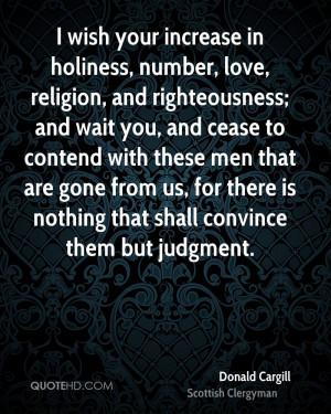 Donald Cargill Religion Quotes