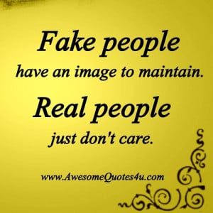 fake people and real people ...