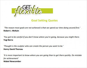 Sample Goal Setting Templates to Download