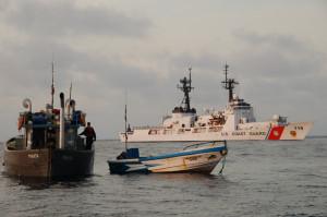 ... more than 230 miles off the coast of Ecuador. U.S. Coast Guard photo