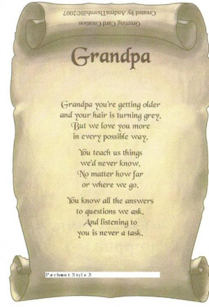 Grandfather Grandfather Poem