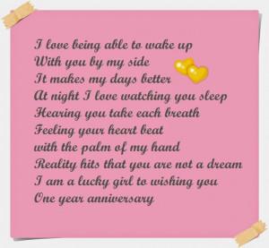 One Year Anniversary Poems for Boyfriend