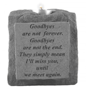 Stone Memorial Candle -