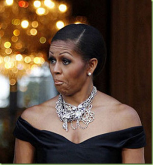 ... Obama. I'm a big fan of Mrs. Obama – and her face, I think, is