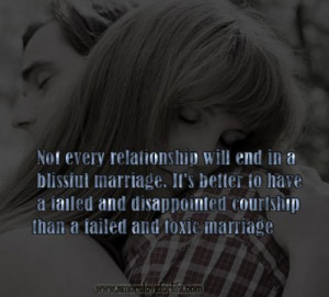 Not every relationship will end in a blissful marriage. It's better to ...