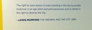 Lewis Mumford on Personal Vehicles