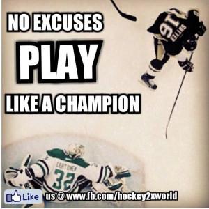No Excuses PLAY like a champion