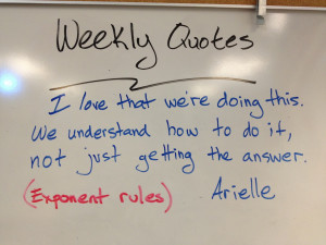 Student Engagement Quotes Quotes of the week board.