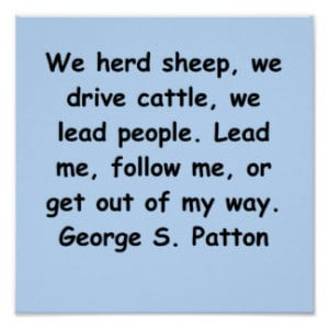 george s patton quote print