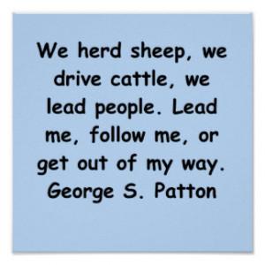 george s patton quote print
