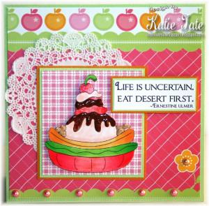card recipe image ice cream accessories sentiment ice cream sentiments