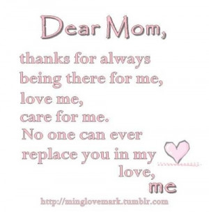 Famous Thank You Mom Quotes