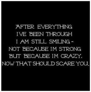 Not because I am strong.
