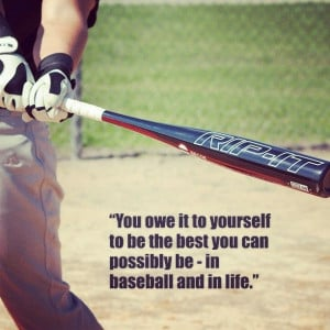 ... best. #baseball #bat #performance #motivational #inspirational #quote