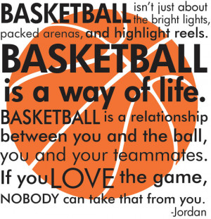 ... Michael Jordan quote with basketball subway art words vinyl wall decal