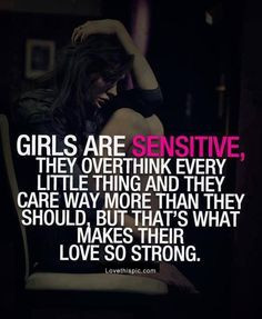 Girls Are Sensitive Pictures, Photos, and Images for Facebook, Tumblr ...