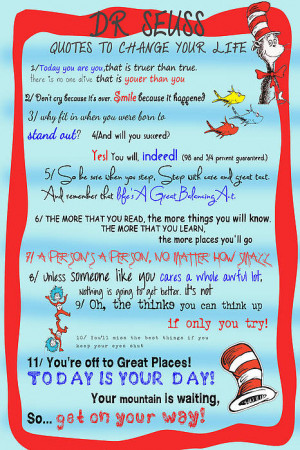 dr seuss quotes to change your life print dr seuss quotes to change ...