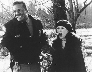 Still of Bebe Neuwirth and David Alan Grier in Jumanji (1995)