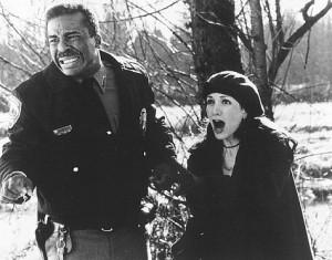Still of Bebe Neuwirth and David Alan Grier in Jumanji (1995)