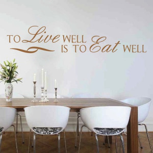 Wall Quotes Kitchen Dining