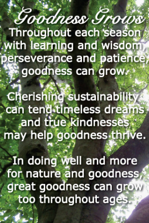 Seasoned Time Sustainability Truth Goodness Sustainability The Golden