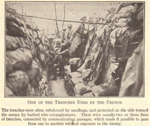 trench warfare in france one of the trenches used by