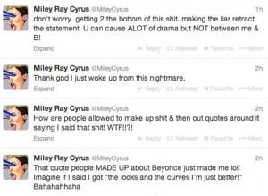 Rumors: Did Miley Cyrus (@MileyCyrus) Diss Beyoncé (@Beyonce)???