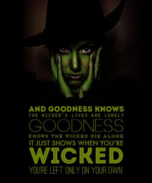 goodness knows the wicked die alone - beautiful poster, hard words