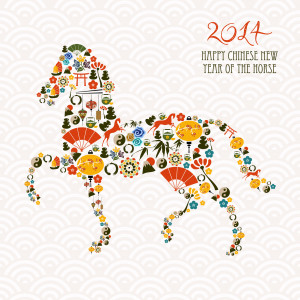 It will be the Year of the Horse, starting on 31 January 2014.