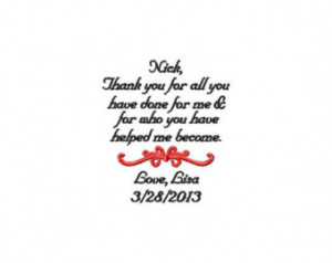 Personalized Wedding Handkerchief Step Father of the Bride Step Mother ...