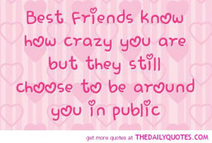 funny friendship quotes pictures sayings best friends crazy quote pics