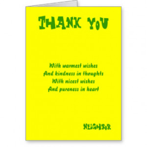 Thank you neighbor greeting cards