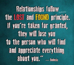 Relationship Follow The Lost