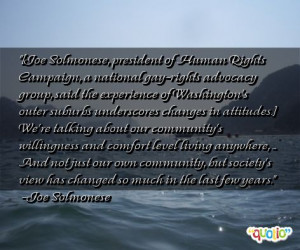 joe solmonese president of human rights campaign a national gay rights ...