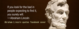 Abraham Lincoln quotes facebook cover photo