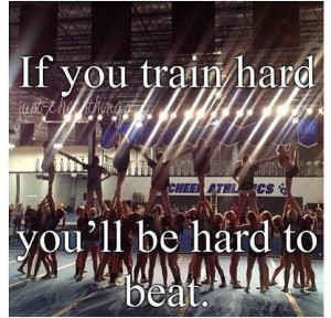 Cheerleading quotes, inspiring, motivational, sayings, train