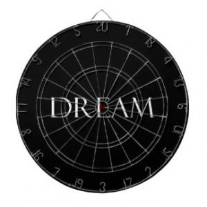 Dream Quotes Inspirational Quote Dart Board