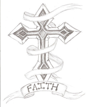 Drawings of crosses with quotes quotesgram for Cool small designs to draw